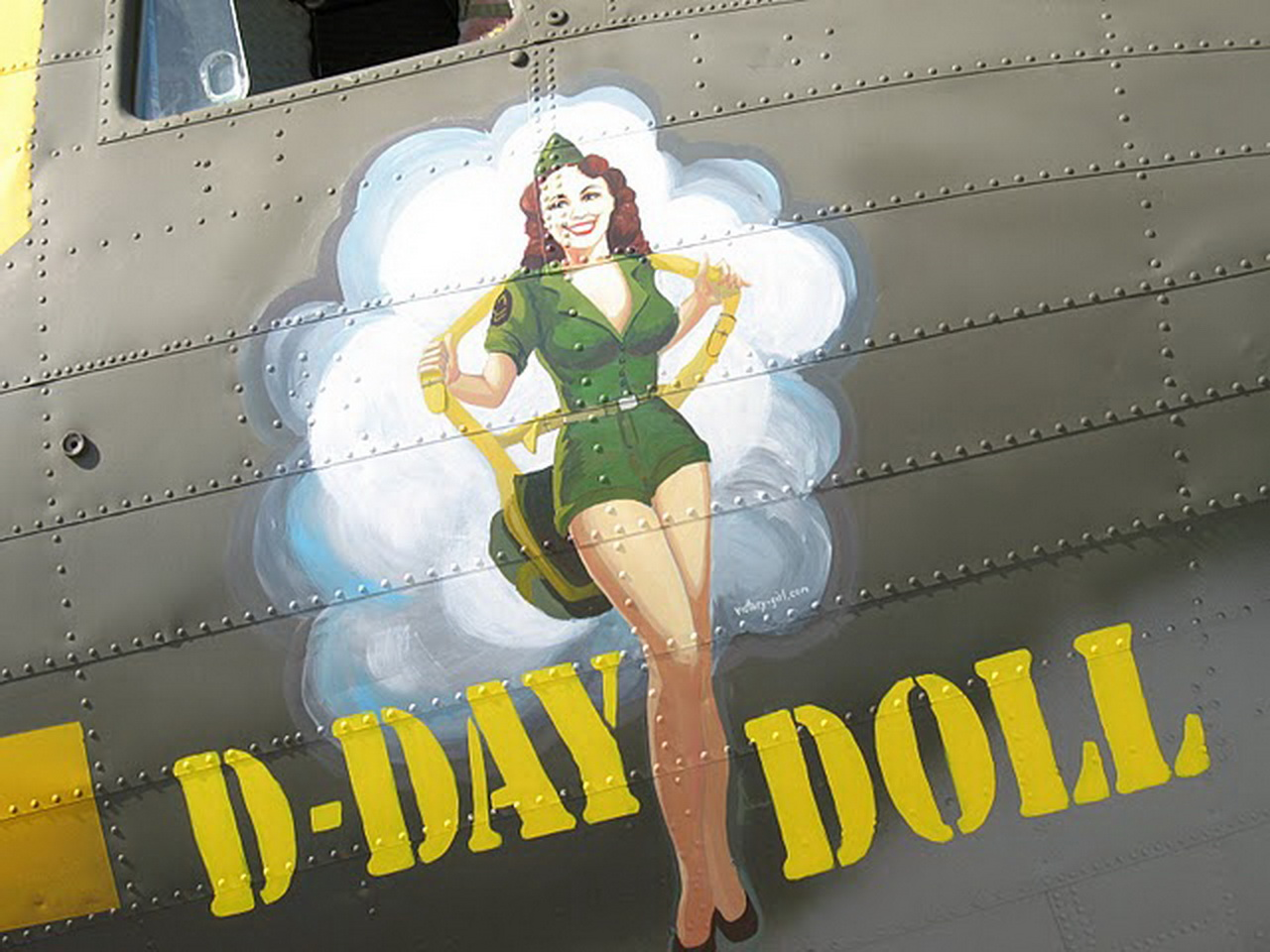 C-53 Aircraft D-day Doll aircraft nose art