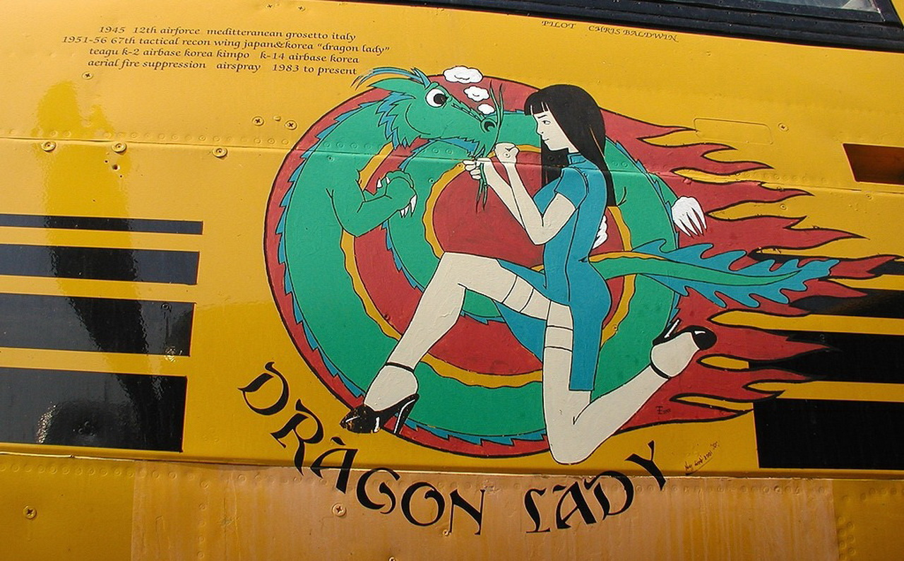 the dragon lady aircraft nose art