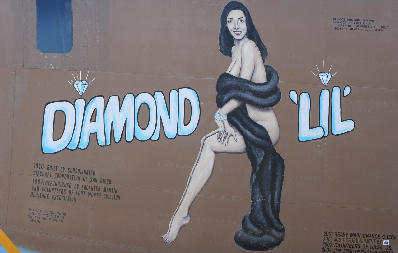 diamond lil air force bomber nose art